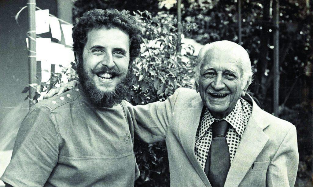 Raul Lody e Gilberto Freyre em Recife/PE em 1982.
