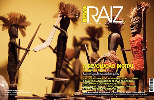 """Capa Revista RAIZ 10, onde está o artigo do Lody: """"Com axé não tenho fome"""", da página 98 até a 101."""